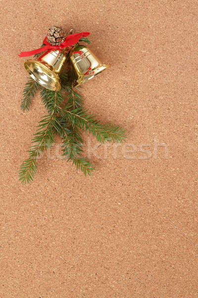 Placa de cortiça natal decorações mensagem Foto stock © artush