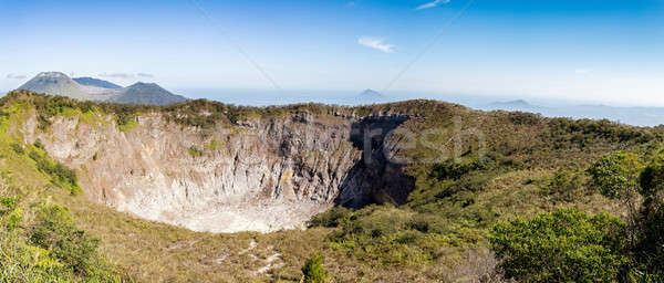 caldera of Mahawu volcano, Sulawesi, Indonesia Stock photo © artush