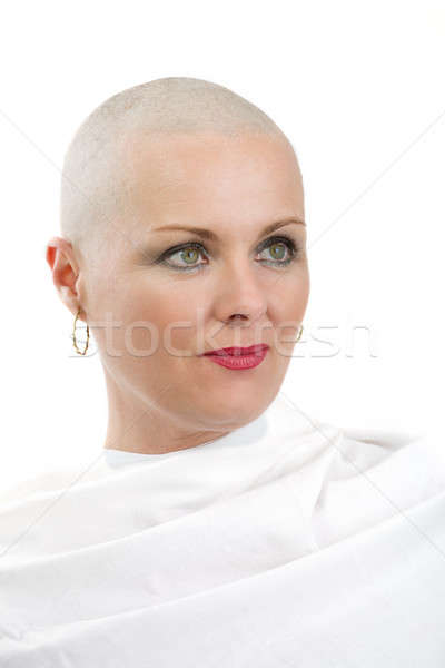 beautiful middle age woman cancer patient without hair Stock photo © artush