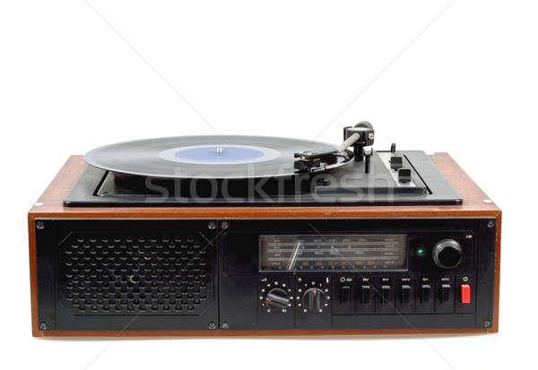 Vintage radio gramófono jugador vinilo detalle Foto stock © artush