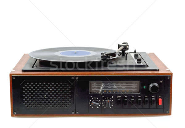 Bağbozumu radyo gramofon oyuncu vinil detay Stok fotoğraf © artush