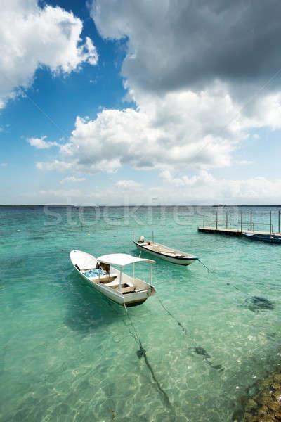 Küçük tekneler plaj bali Endonezya romantik Stok fotoğraf © artush
