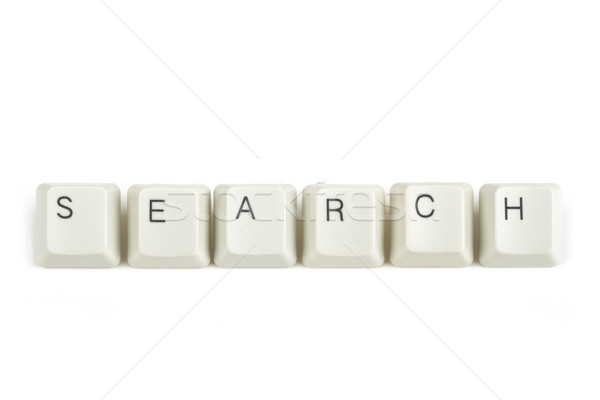 search from scattered keyboard keys on white Stock photo © artush