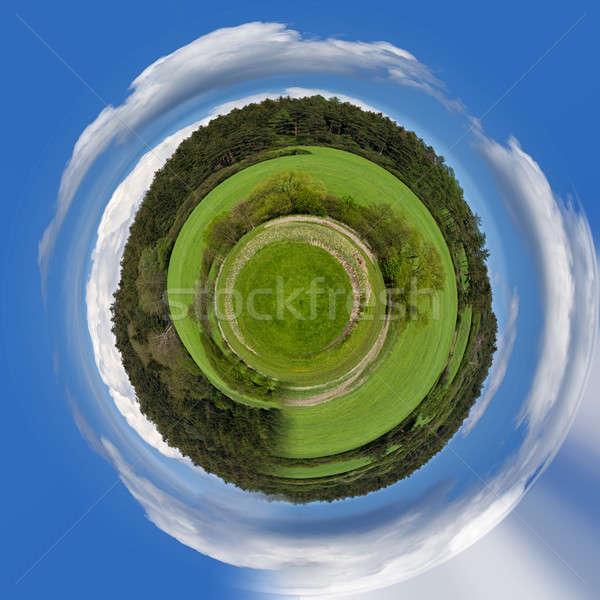 tiniy planet Beautiful summer rural landscape Stock photo © artush