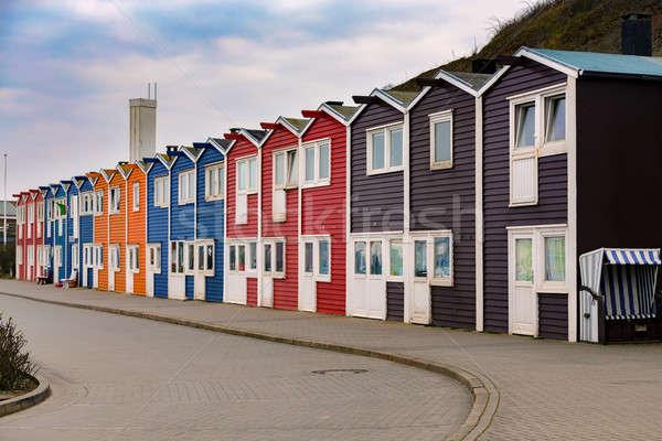 Krab rybak kolorowy port wyspa Niemcy Zdjęcia stock © artush