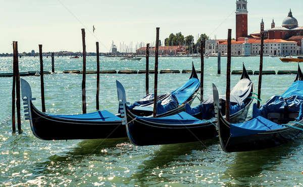 Venise Italie canal vide bleu eau Photo stock © artush