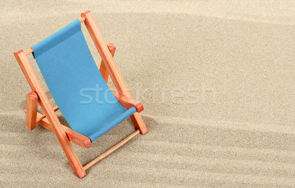 Vacation background with sun lounger Stock photo © artush