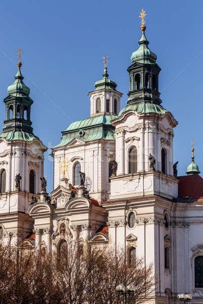 Prague Saint Nicholas church Stock photo © artush