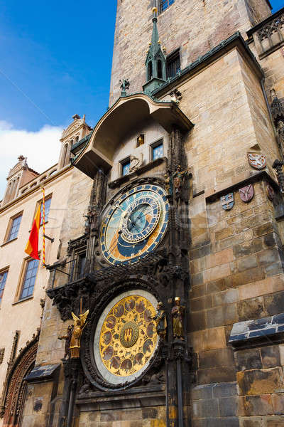 Fascinating very old Prague Astronomical Clock -Prague Orloj Stock photo © artush