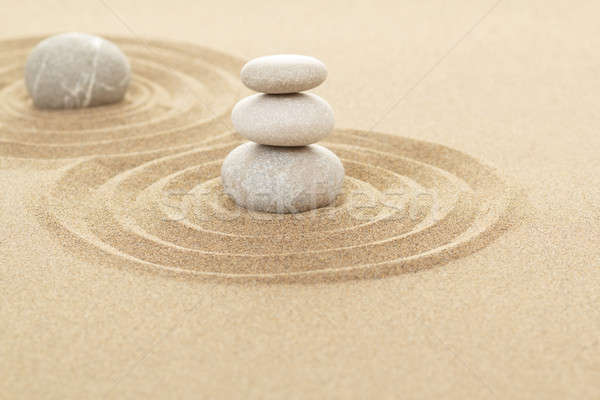 Balance zen stones in sand Stock photo © artush