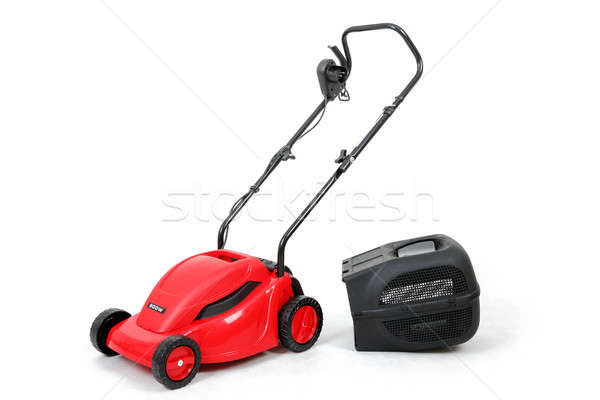 new red lawnmower on white background Stock photo © artush
