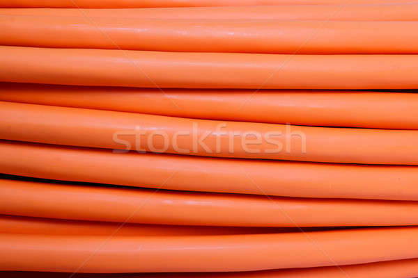 orange fiber optic cable background Stock photo © artush