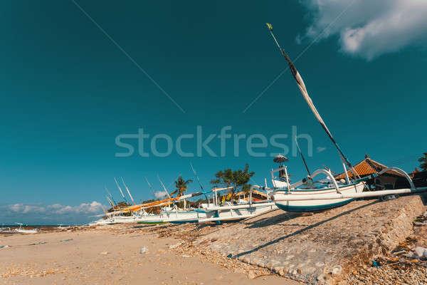 Katamaran tekne bali Endonezya geleneksel ada Stok fotoğraf © artush