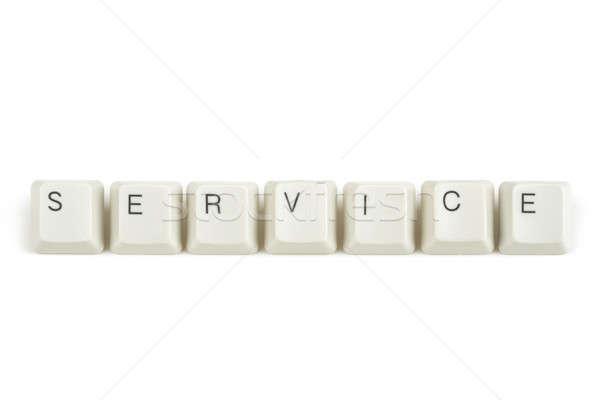 службе клавиатура ключами белый текста изолированный Сток-фото © artush
