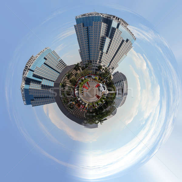 Planet of Building on main street in central Jakarta Stock photo © artush