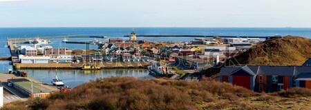 Miasta Hill kolorowy Krab rybak port Zdjęcia stock © artush