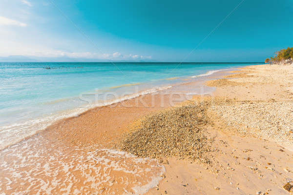 Traum Strand Indonesien Insel Sand Stock foto © artush