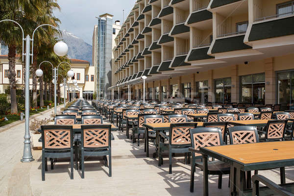 outdoor seating in empty hotel  Stock photo © artush