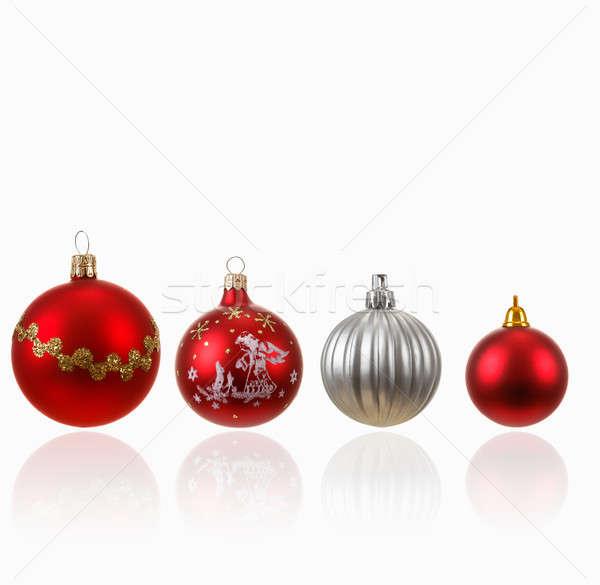 Collection of four Christmas balls on white Stock photo © artush