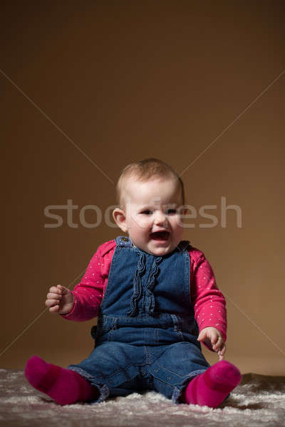 smiling infant baby Stock photo © artush