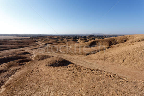 Stock photo: panorama of fantrastic Namibia moonscape