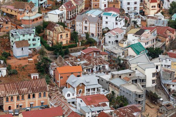 Antananarivo cityscape, capital of Madagascar Stock photo © artush