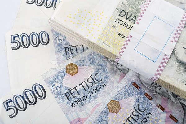 Stockfoto: Tsjechisch · bankbiljetten · waarde · een · twee · duizend