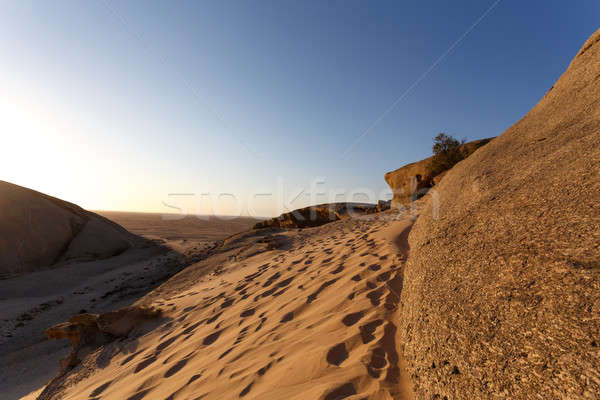 Rock formation in Namib desert in sunset, landscape Stock photo © artush