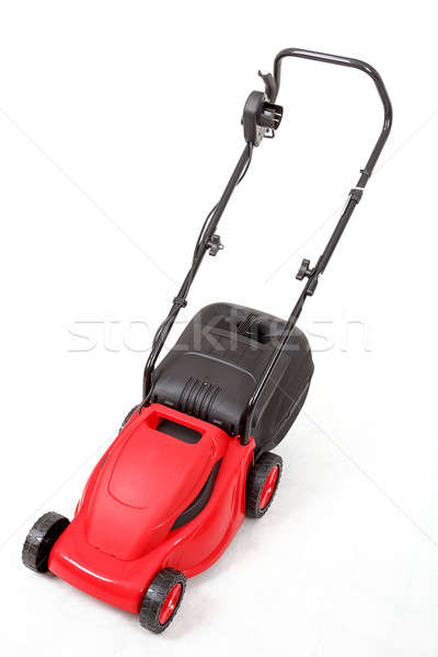 new red lawnmower on white background Stock photo © artush