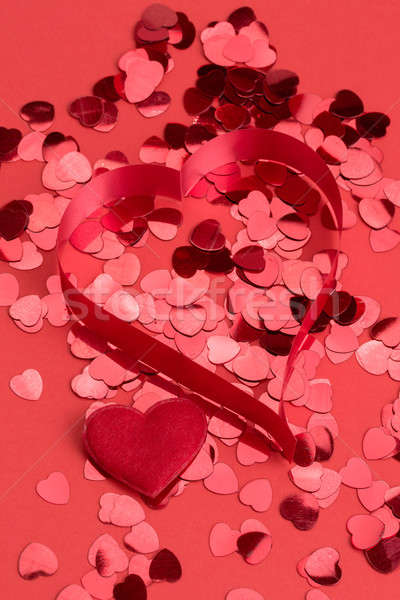 Red hearts confetti Stock photo © artush