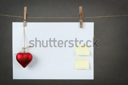 empty note for valentine message Stock photo © artush