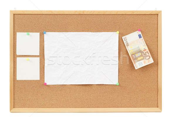 Vazio nota documentos placa de cortiça quatro carta Foto stock © artush