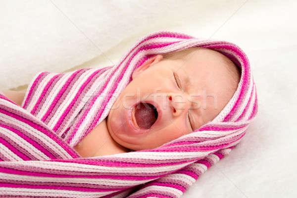 Huilen pasgeboren baby ziekenhuis eerste week Stockfoto © artush