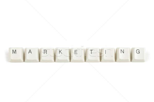 Marketing billentyűzet kulcsok fehér szöveg izolált Stock fotó © artush