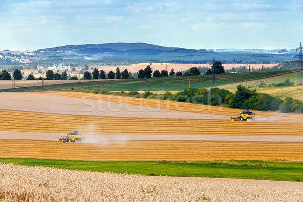 harvester machine on field  Stock photo © artush