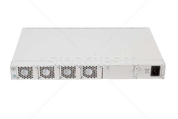 Zurück Ethernet wechseln Schlitz Faser Stock foto © artush