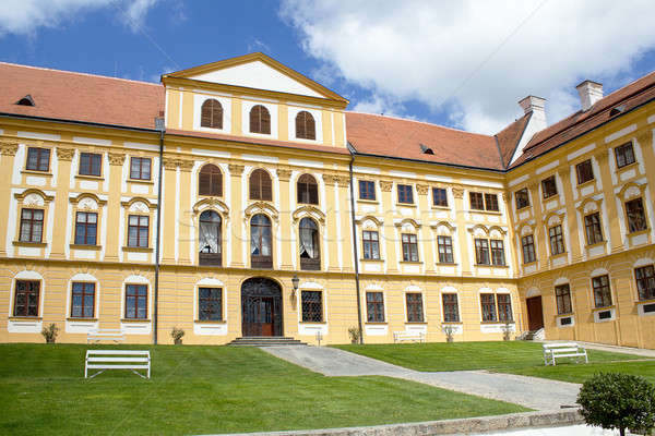 ünlü barok Çek Cumhuriyeti gökyüzü bahar çim Stok fotoğraf © artush