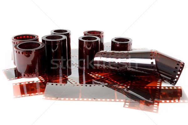 Afbeelding oude negatieve filmstrip textuur Stockfoto © artush