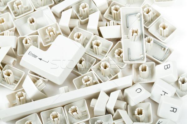 клавиатура ключами белый служба стороны Сток-фото © artush
