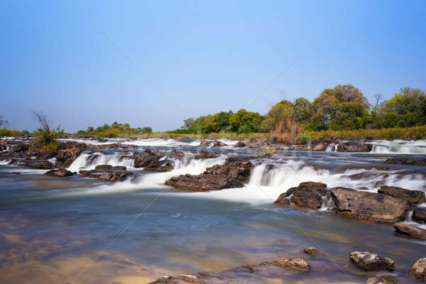 Famous Popa falls in Caprivi, North Namibia Stock photo © artush