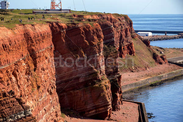 Sedimentary rock cliffs from Helgoland Stock photo © artush