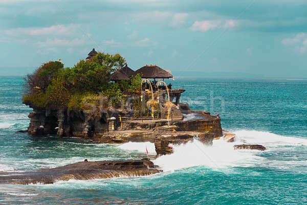Templo mar bali ilha Indonésia famoso Foto stock © artush