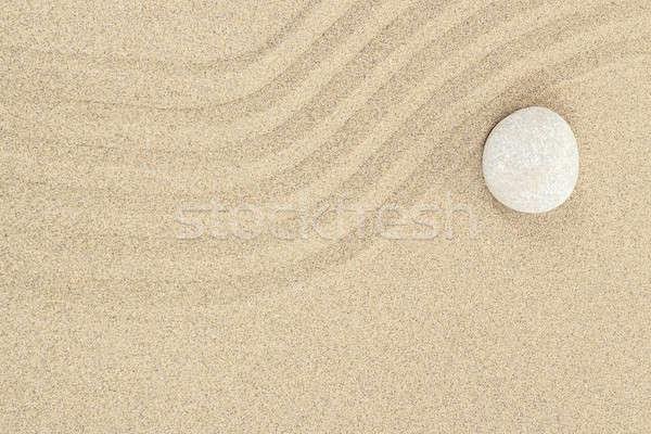 Foto stock: Zen · piedra · arena · suave · líneas · resumen