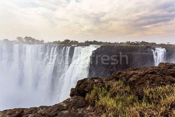 Köd víz legnagyobb függöny világ széles Stock fotó © artush