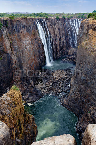 view of Victoria falls canyon  Stock photo © artush