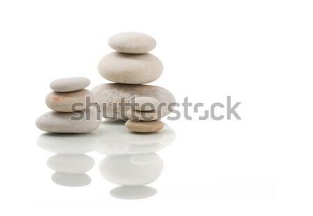 balancing zen stones isolated Stock photo © artush