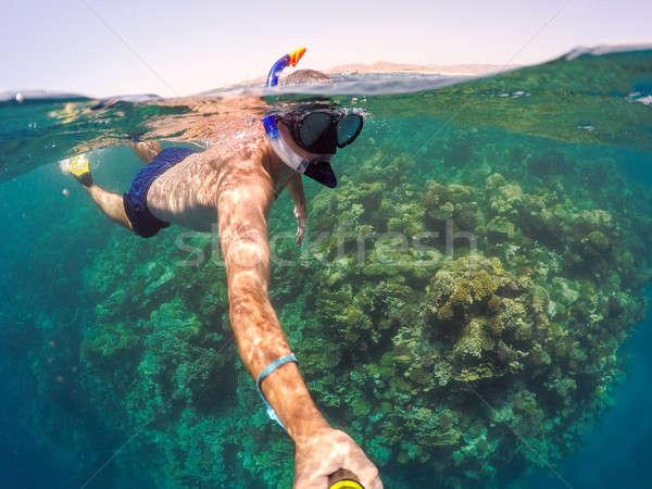 şnorkel sığ su kızıl deniz Mısır sualtı Stok fotoğraf © artush