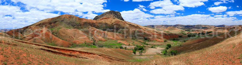Madagascar countryside highland landscape Stock photo © artush