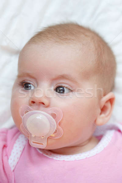 adorable baby with pacifier Stock photo © artush