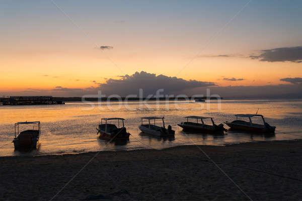 Nusa penida, Bali beach with dramatic sky and sunset Stock photo © artush